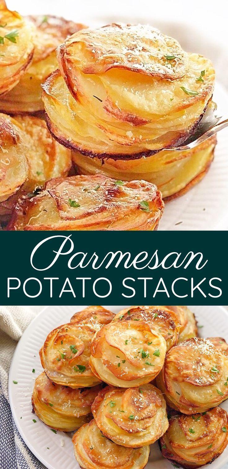 Apr 7, 2020 – Mini Potato Stacks – muffin pan potato au gratin stacks. These little gems are like mini individual serves…
