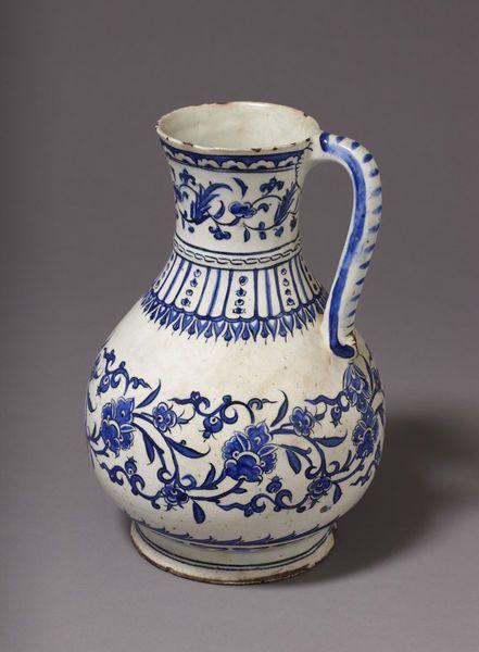 Jug      Place of origin:      Iznik, Turkey (probably, made)     Turkey (made)     Date:      ca. 1575 (made)     Artist/Maker:  ...