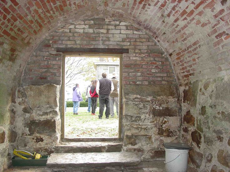 1843 Brick Arched Root Cellar Interior New London CT - interior