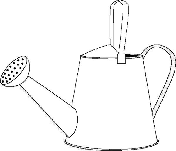 Watering Can How To Draw A Watering Can Coloring Page