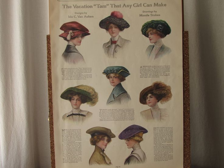 """A special piece--for sale: Original Antique Magazine Color Illustration; Ladies Home Journal, May 1912; Edwardian Fashion; """"Early Summer Clothes""""; Maude Stokes, Reimer by CroweyeDesigns on Etsy"""