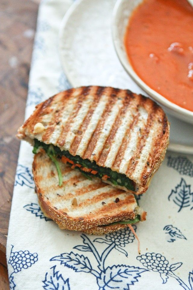 This Hummus and Veggie Panini is the perfect vegetarian sandwich to pair up with a bowl of soup for a light, healthy dinner.