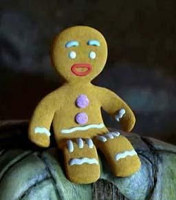 <3 Shrek's Gingy, love him! (he's the BEST part of the Shrek movies!!) <3