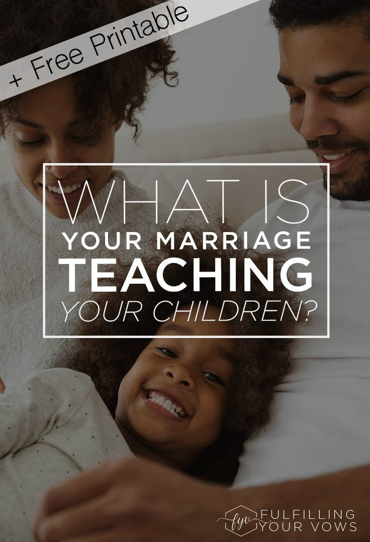 What is your marriage teaching your children? Let's take a look inside and find out. via @carliekercheval