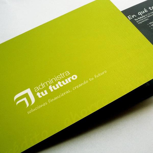 administra tu futuro self promotion brochure   © all rights reserved: Promotion Brochures, Self Promotion