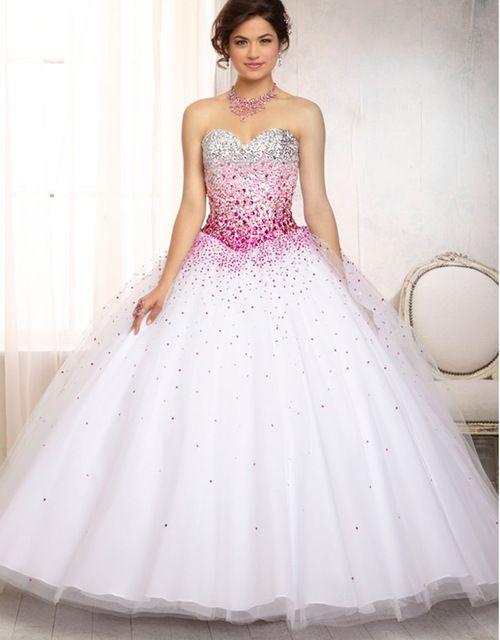 Corsé atractivo 2016 del arco iris de la princesa bola vestidos de quinceañera 15 años vestidos de 15 anos 2016 debutante dulce 16 vestido de la muchacha