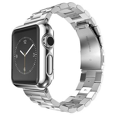 Stainless Steel Strap Band w/ Adaptor Protect Case Cover for Apple Watch iWatch