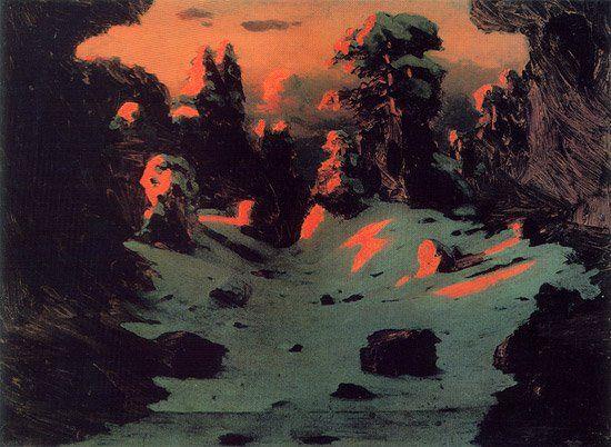Sunset Effect 1876 1890 | Arkhip Kuinji | oil painting #russianpaintings