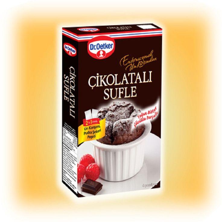 Dr.Oetker Cikolatali Sufle (Un Karisimi Pudra Sekeri Poseti) - Chocolate Souffle (Mixed Flour Powdered Sugar) 180 gr