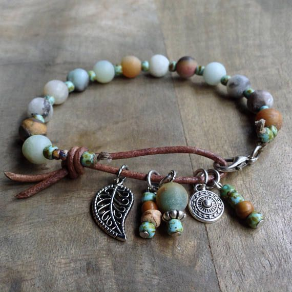 Amazonite bohemian bracelet boho chic bracelet gypsy womens – Jewelry Design