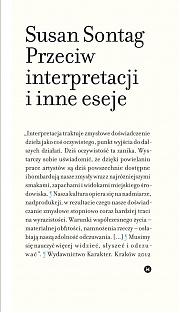Susan Sontag, Przeciw interpretacji i inne eseje