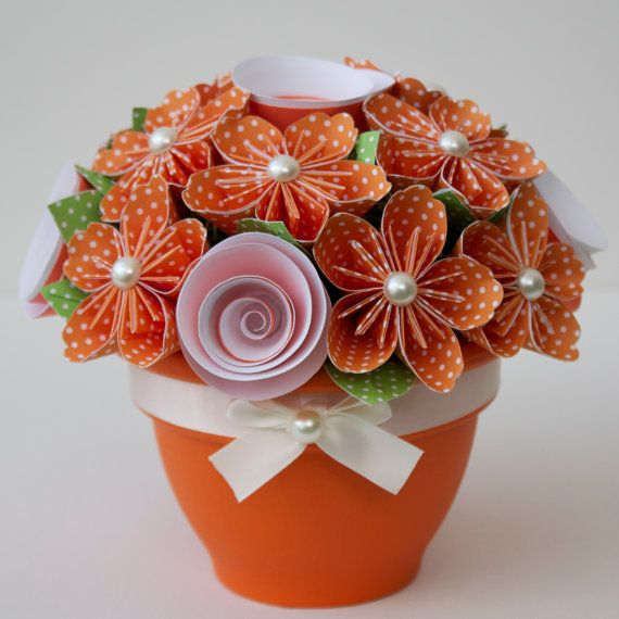 Potted Paper Flower Bouquet - Knoxville