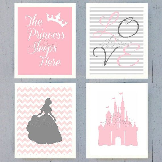 Check out this item in my Etsy shop https://www.etsy.com/ca/listing/239315939/princess-nursery-prints-set-of-4-8x10