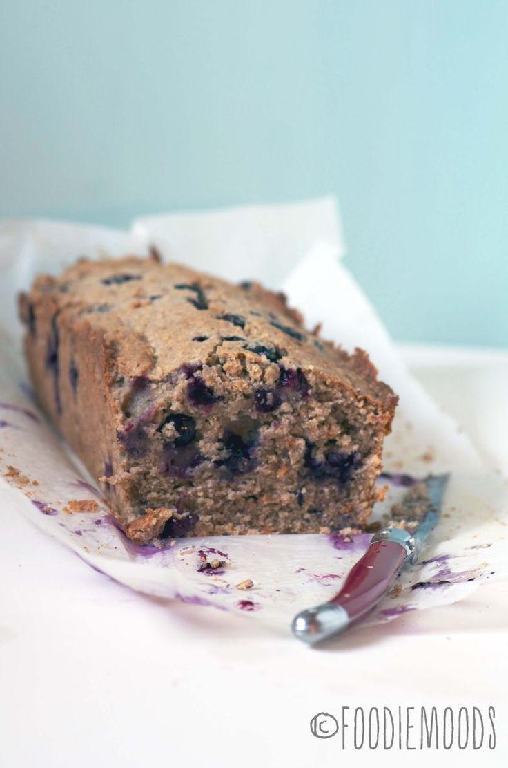 gezonde cake met havermout en bosbessen