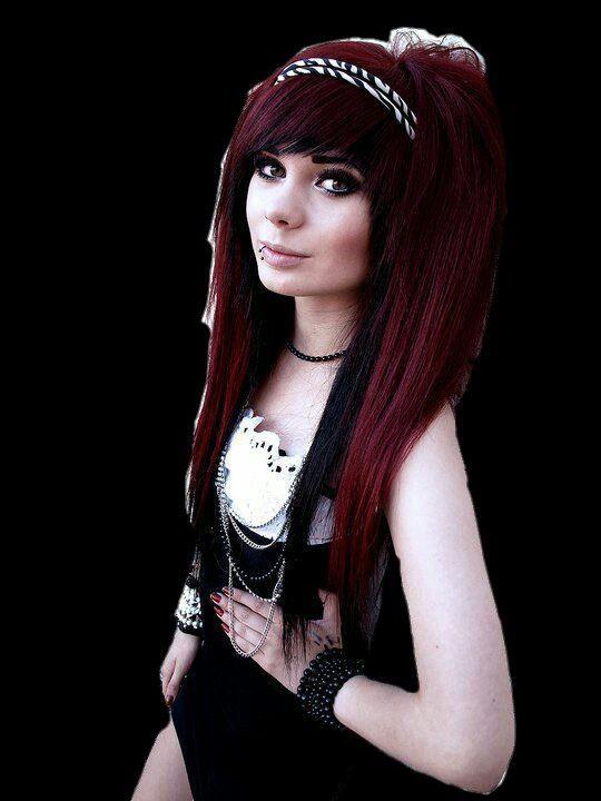 Emo girl red hair