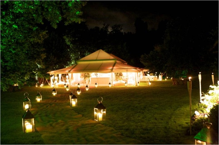 Romantic atmosphere at night in a Pearl Tent.