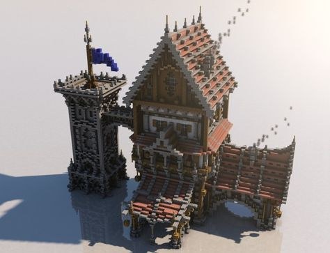 Medieval Mondays #1: Large House Minecraft Project