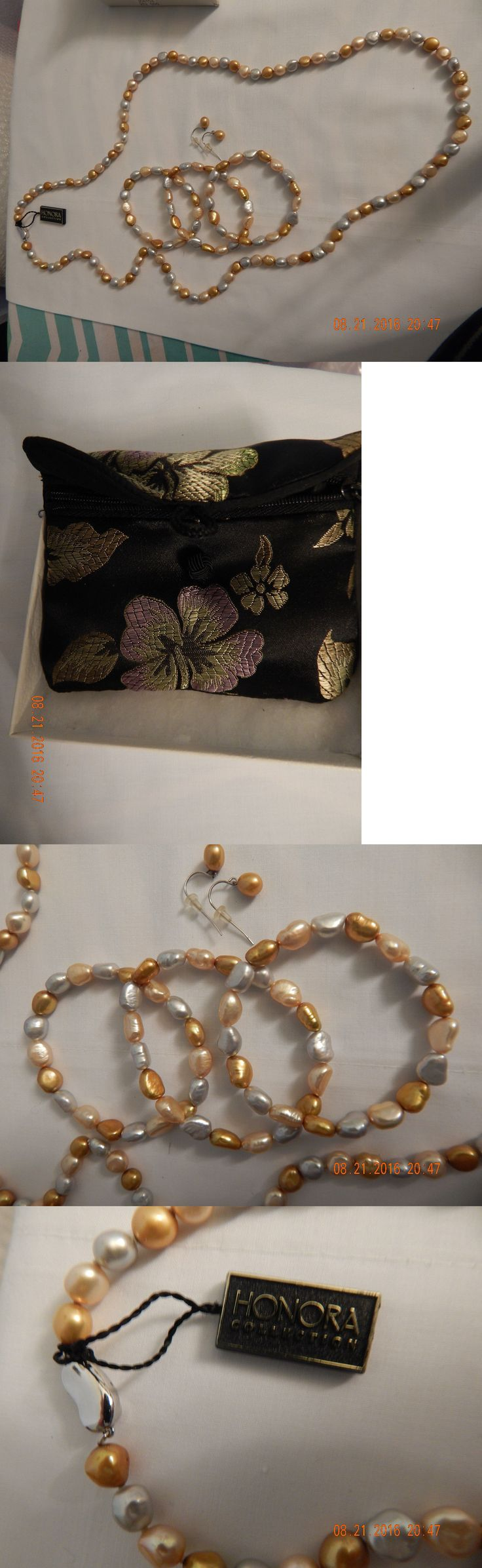 Pearl 164327: Honora 6-7Mm Multicolor Gold Ivory Silver 36 Baroque Pearl Set, New From Qvc! -> BUY IT NOW ONLY: $78 on eBay!