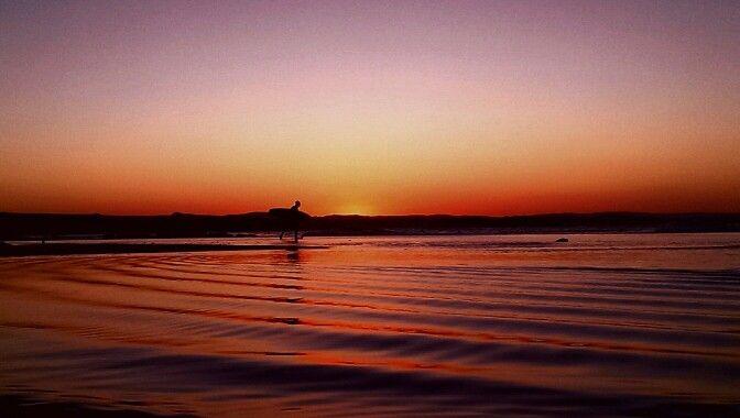 Peachy Perfect || Walking On The Water   #OverloadedHASHTAG #peachyperfect #sunset #rainbowbay  #goldcoast #surflife #beachphoto #lifesabeachphotocomp #GameChanger #mobilephotography #smartphonephotography #withhearts #withheartsskillshare