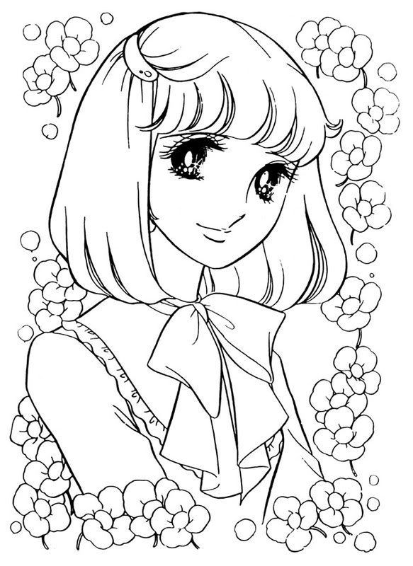 1903 Best Anime, Asian Art  Manga Coloring Pages Images -6573
