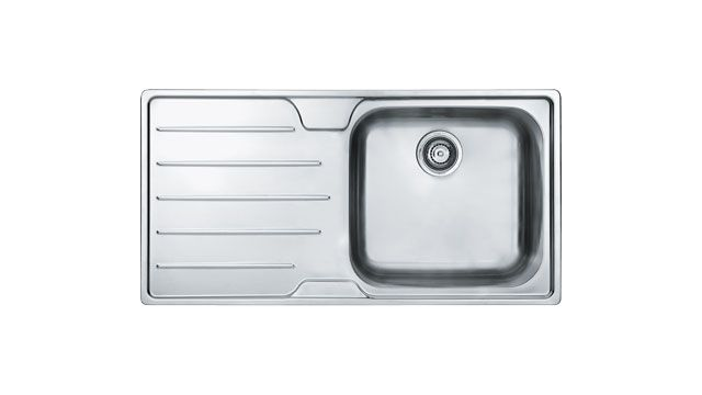 Franke inset sink - Isis SSX611 Stainless Steel.  Available in Right and Left-hand versions.  Accessories available include: Chopping board & Drainer basket. The Franke Isis series, with its clean lines, will make a stunning alternative for the most discerning kitchen and is a real showpiece.
