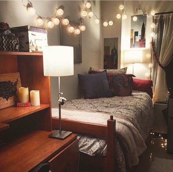 25 best ideas about cozy dorm room on pinterest dorms for Apartment bedroom ideas for college