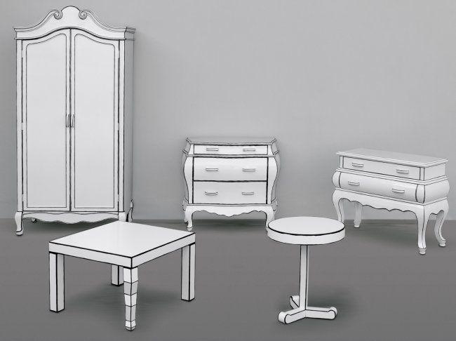 cartoon drawn furniture | Seletti