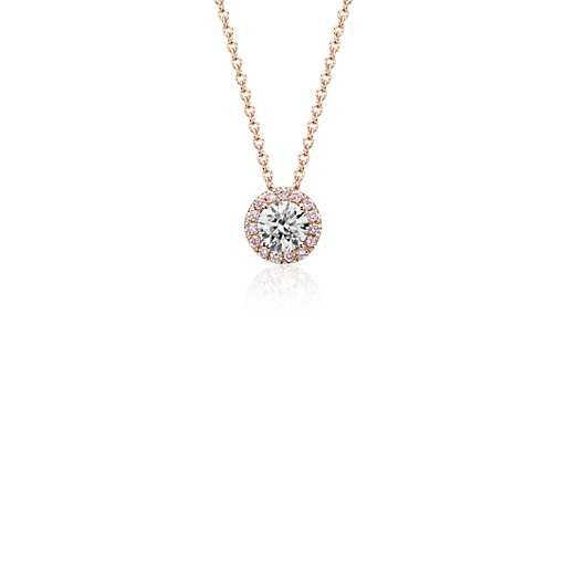 Mejores 78 imgenes de blue nile favorites en pinterest nilo azul pink halo diamond pendant in 18k rose gold bluenile aloadofball Image collections