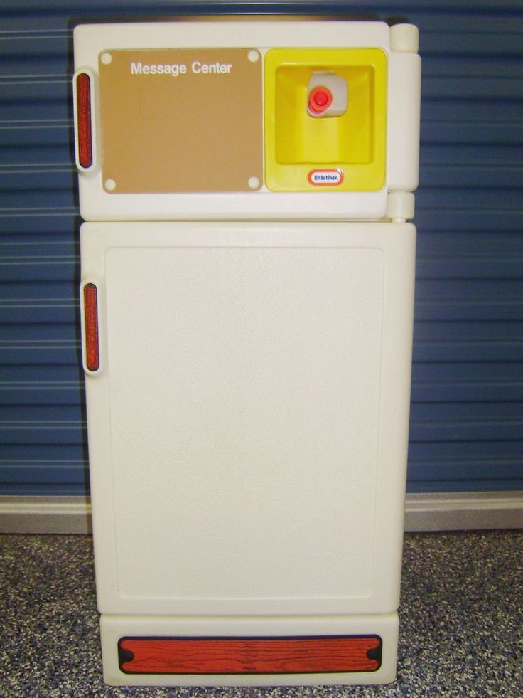 LITTLE TIKES VINTAGE KITCHEN – REFRIGERATOR w/Dispenser, Trays, Drawers, Shelves #LittleTikes