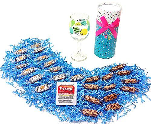 "#Great #Minds #Drink #Alike #Birthday #Humorous #Gift #Pack - #Peanut #Butter and #Joyva #Sesame #Crunch #Candy, #Wine #Glass & #Tylenol Special ""Great #Minds #Drink Alike"" #wine #glass Assortment includes #Peanut #Butter #Crunch and #Joyva #Sesame #Crunch candies #Tylenol for the morning after! https://food.boutiquecloset.com/product/great-minds-drink-alike-birthday-humorous-gift-pack-peanut-butter-and-joyva-sesame-crunch-candy-wine-glass-tylenol/"