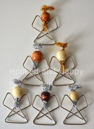 DIY Paperclip Angel Ornaments - The Idea King
