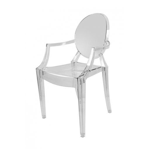 Philippe Starck Ghost Clear Plastic Armchair