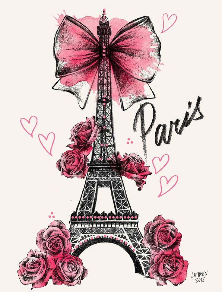 Illustration - Draw - Roses for Paris https://www.facebook.com/lutheen.illustration