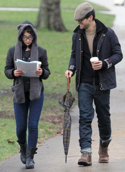 Dominic Cooper and a mystery girl took a stroll through Regents Park during an on and off rainstorm in London, UK on February 13, 2012.