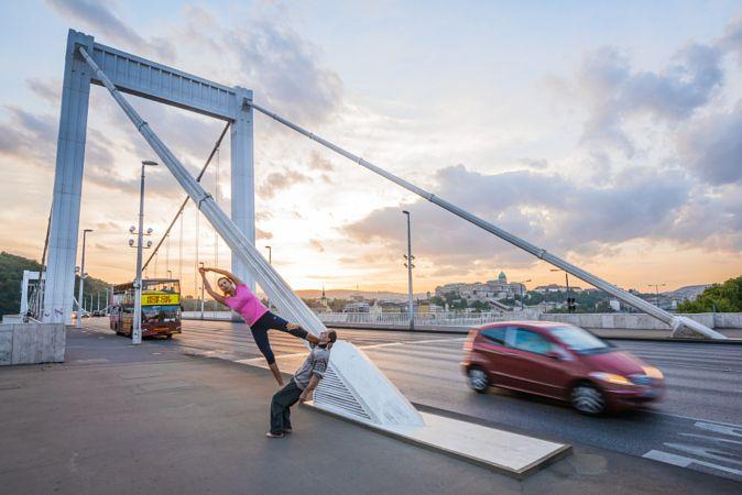 Acro yoga - Flag by Istvan Szarka