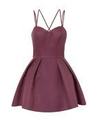 Womens *Chi Chi London Petite Purple Strappy Mini Dress- Purple