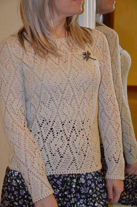 Пуловер с геометрическим узором