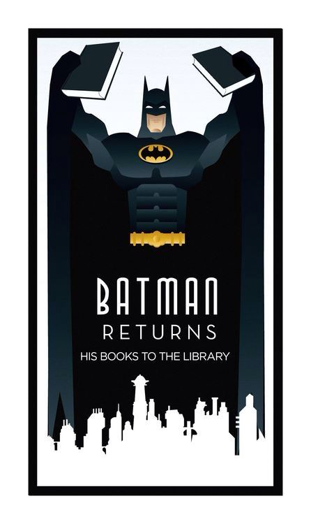 Batman Returns ...his library books.
