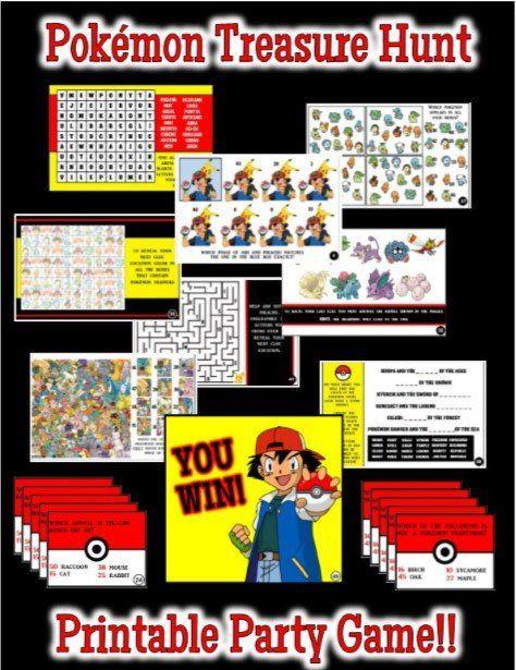 Pokemon Trivia Treasure Hunt