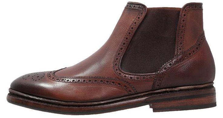 Lækre mørkebrune herrestøvler med fede pyntesømsdetaljer