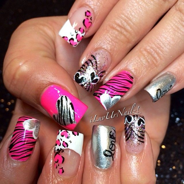 VALENTINE by iluvurnailz #nail #nails #nailart  | See more nail designs at http://www.nailsss.com/acrylic-nails-ideas/2/