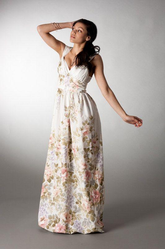 Floral Beach Wedding Dress