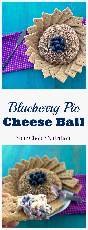 Blueberry Pie Cheese Ball. Made healthier with siggi's yogurt! #ad