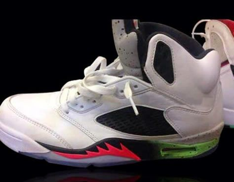 2015 Air Jordan 5 Fire Red/Poison Green/ Cement Tongue Sneaker (New Image +  Release Date)