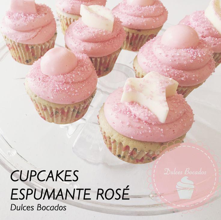 Cupcakes espumante rosé Faciles y muy rápidos, perfectos para fiestas y año nuevo.