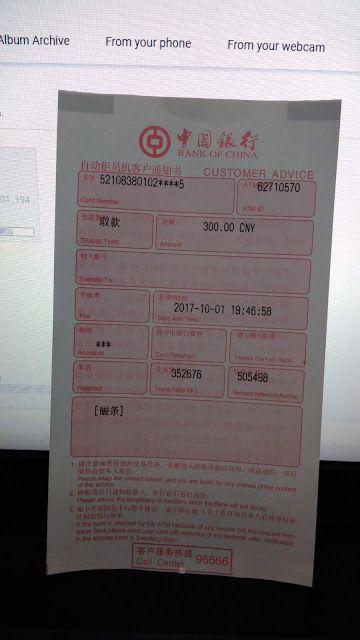 Tarik Tunai Yuan (RMB) di ATM Bank of China (BOC) Pake Kartu ATM BNI