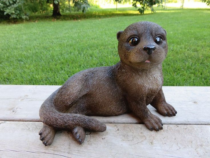 Otter Figurine Resin Ornament Wild Animal River Otters North American New