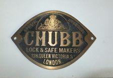 Brass Chubb safe Plaque
