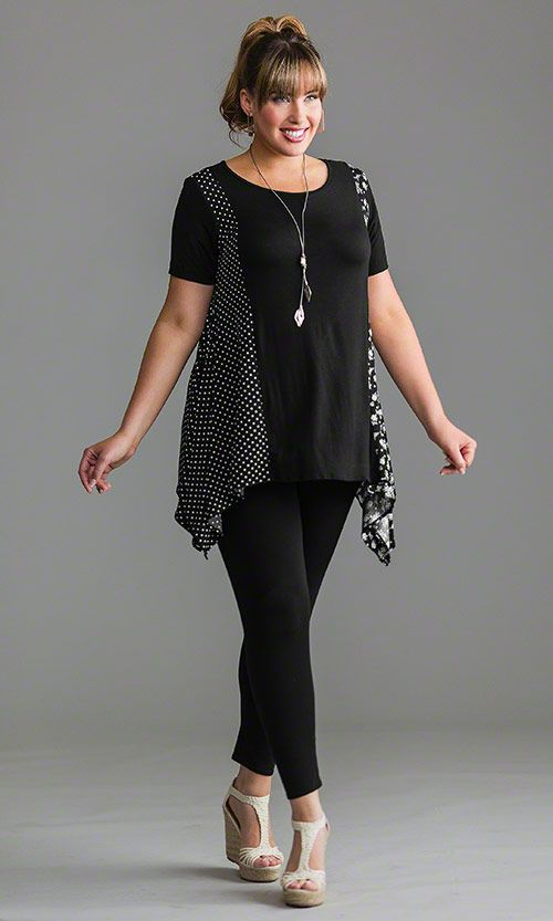 Dotty Tunic  / MiB Plus Size Fashion for Women / Spring Fashion  http://www.makingitbig.com/product/5132