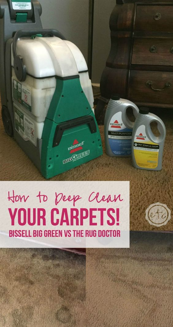 How To Deep Clean Your Carpets: Bissell Big Green Vs The Rug Doctor